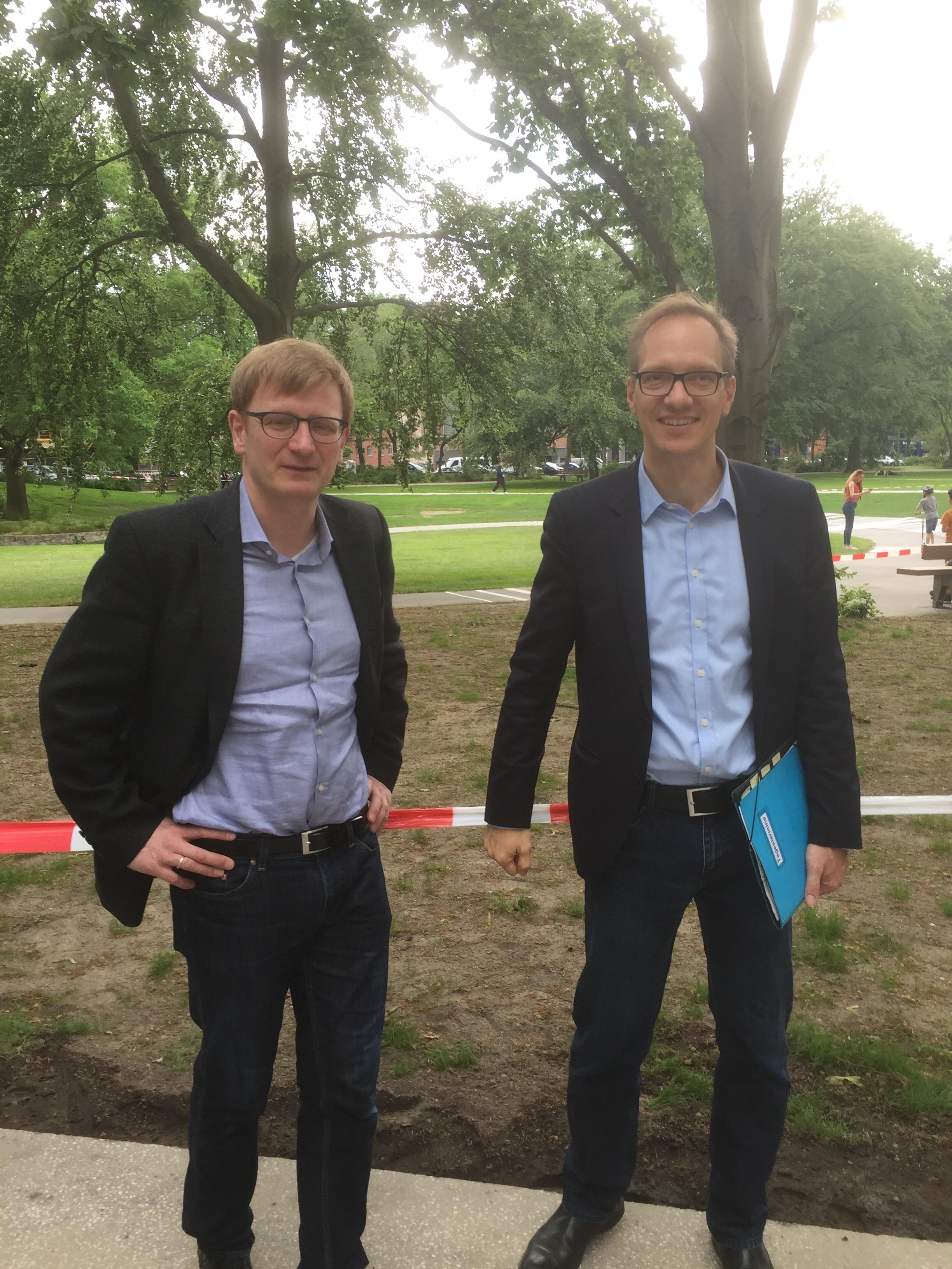 MdB Dr. Philipp Lengsfeld und Stadtrat Carsten Spallek bei der Eröffnung