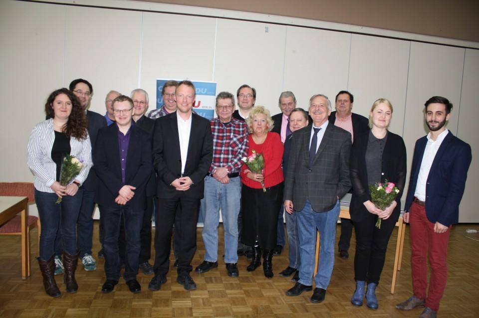 Der auf der Jahreshauptversammlung gewählte Vorstand der CDU Moabit